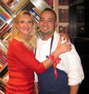 Executive chef Daniel Elmaleh with Sophie Gayot