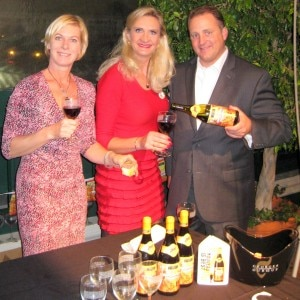 Jason Hayes from W.J. Deustch & Sons, imported of Georges Duboeuf wines, Kora  Kroep (West Coast Event Productions), Sophie Gayot