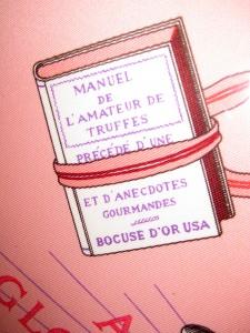 Detail of the Hermès scarf A la Gloire de la Cuisine Française