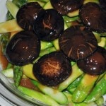 Asparagus with Chinese mushrooms