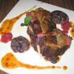 Hanger steak, charred tomato, onion and sumac