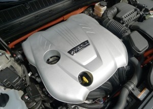 The engine of the Kia Optima Hybrid