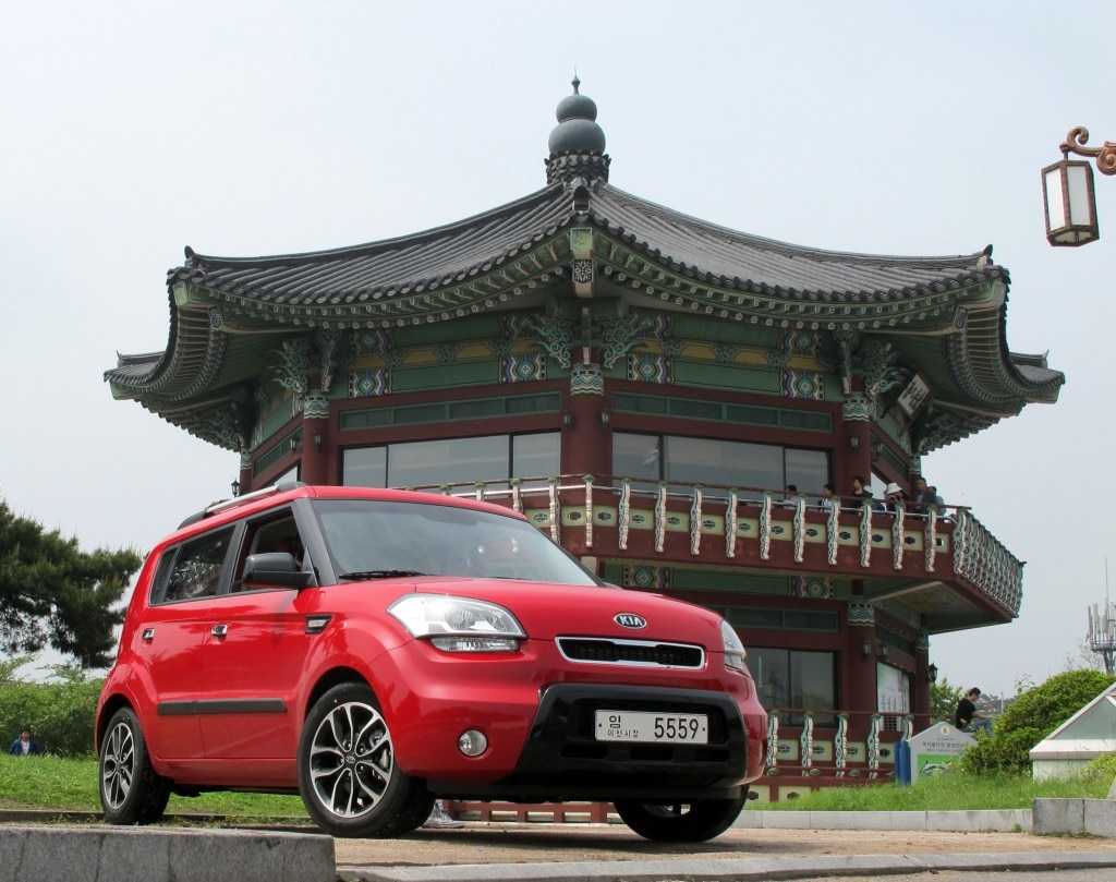 The Kia Soul in Seoul, South Korea
