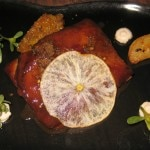 Lamb belly, apple and Vadouvan spice