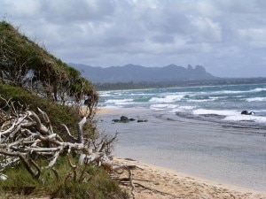 The beach at Lihue, Kauai
