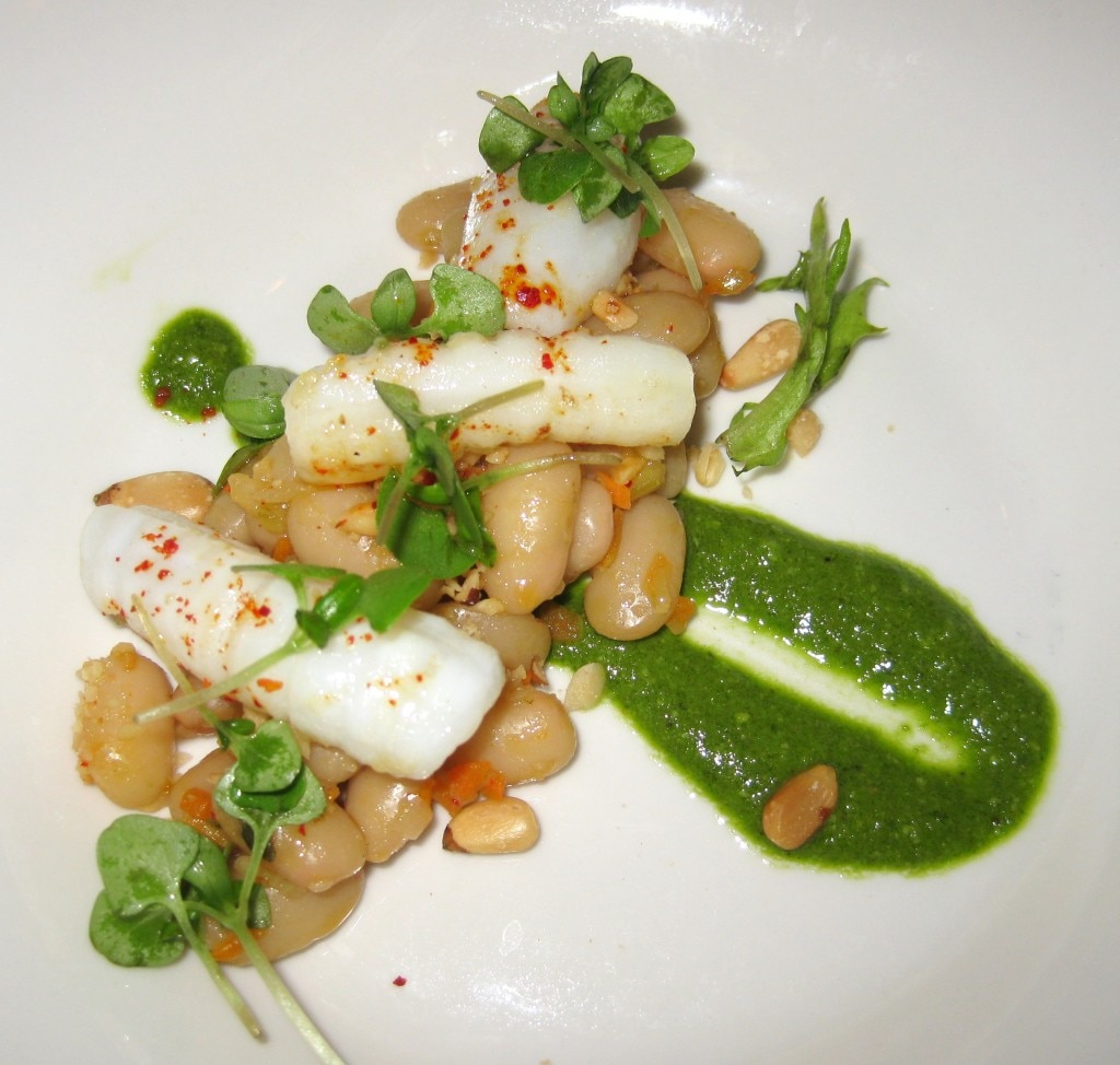 Pan-roasted baby squid