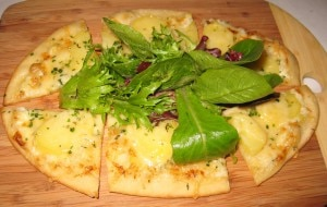 potato flat tart 300x190 Camilles potato and rosemary flat tart