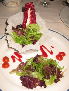 salad 227x300 Contemporary Greens: Mesclun greens tossed with passion fruit vinaigrette