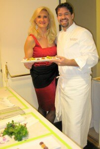 Executive chef Rory Herrmann of Bouchon Beverly Hills with Sophie Gayot
