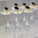 Champagne & caviar, strawberry-white chocolate fizzy