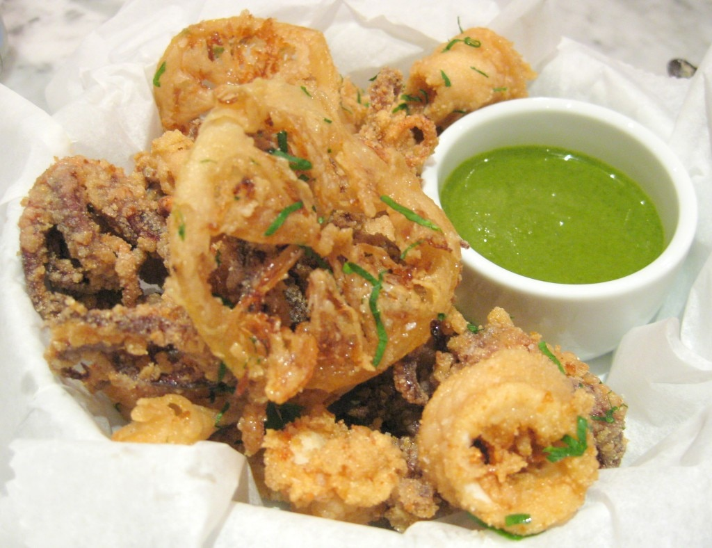 Fried local calamari