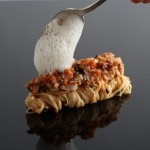 Lobster Bolognese with fresh capellini, black truffles and basil