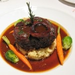 Ossobuco with risotto Milanese