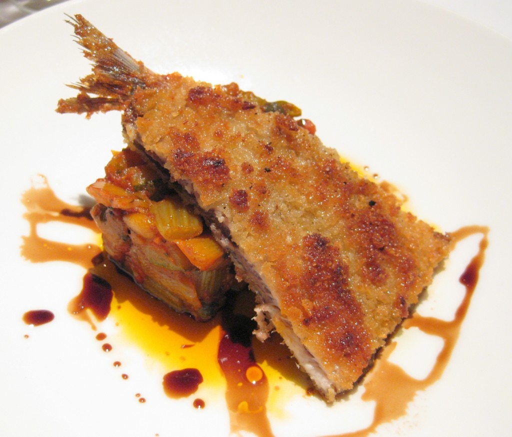 Special of the day: sardine with eggplant
