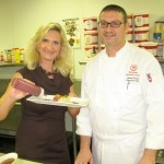 Chef Orazio Parisi with Sophie Gayot