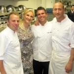 The chefs at Whist: Tony Disalvo, executive chef, Chris Crary, chef de cuisine, Jo Stouggard, sous-chef with Sophie Gayot