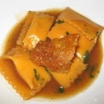 Tortelloni filled with pumpkin, sage, butter and parmesan cheese