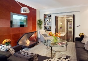 Jaguar Suite living room at 51 Buckingham Gate, Taj Suites and Residences in London
