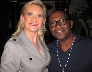 Randy Jackson with Sophie Gayot