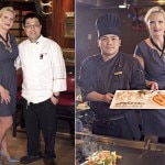 Chefs William Siew (left) & Maswin Sukotjo with Sophie Gayot