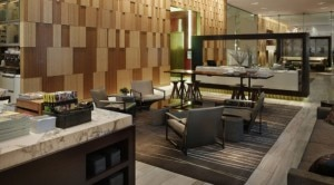 The Andaz Lounge at Andaz Wall Street in New York