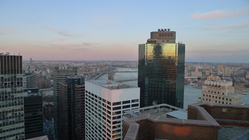 A view from the Andaz Wall Street in NYC