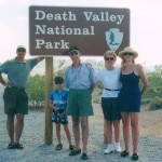 The Gayot family enriched with a grandson visiting with a GM Tahoe – from which the picture is taken - Death Valley in 2001