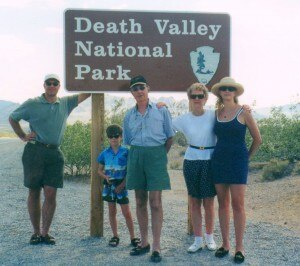gayot death valley 300x266 The Gayot family enriched with a grandson visiting with a GM Tahoe – from which the picture is taken   Death Valley in 2001