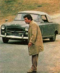 inspector columbo 246x300 Lt. Columbo and his Peugeot 403 Grand Luxe Cabriolet (photo credit: NBC)