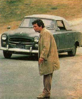 Lt. Columbo and his Peugeot 403 Grand Luxe Cabriolet (photo credit: NBC)