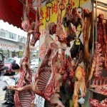 Exotic meats at the Wan Chai Market in Hong Kong