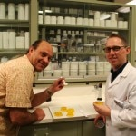 Alain Gayot and Ted Russin in the food lab