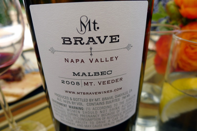 Mt. Brave 2008 Malbec - 100 cases produced