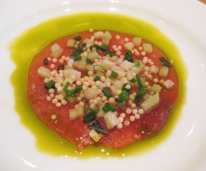 Asian-style tuna carpaccio