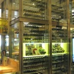 Central white wine tower
