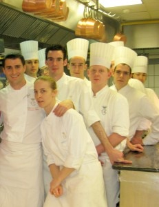 Christopher Hache, chef at Les Ambassadeurs, with his team