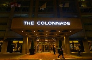 colonnade entrance 300x198 The entrance of The Colonnade Hotel in Boston