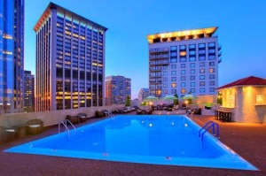 Boston's The Colonnade Hotel rooftop pool