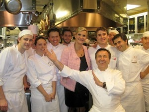 Daniel Boulud at Daniel with his team and Sophie Gayot