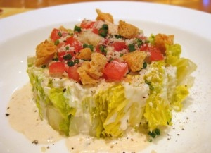 Goat cheese Caesar salad