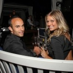 LA Galaxy's Landon Donovan and Kirsten Rich