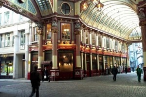 leadenhall market 300x199 Leadenhall Market, one of the Harry Potter filming locations on the tour