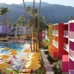 The pool and courtyard at Saguaro Palm Springs in California