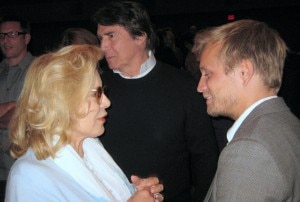 French singer Sylvie Vartan with actor Jérémie Rénier