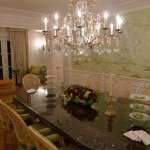 "The dining room of The Peninsula Suite: The ""Green Suite"" at The Peninsula Beverly Hills"