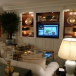 "The living room of The Royal Patio Suite: The ""White Suite"" at The Peninsula Beverly Hills"