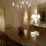 The dining room of The Peninsula Villa at The Peninsula Beverly Hills