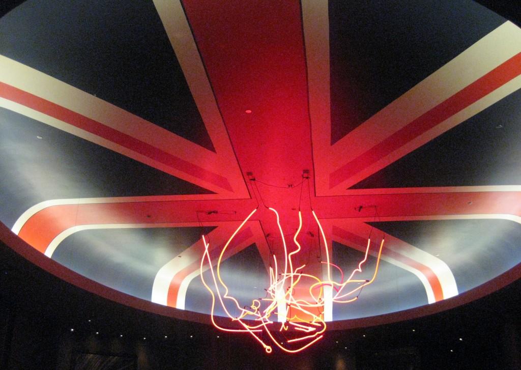 Gordon Ramsay Steak ceiling
