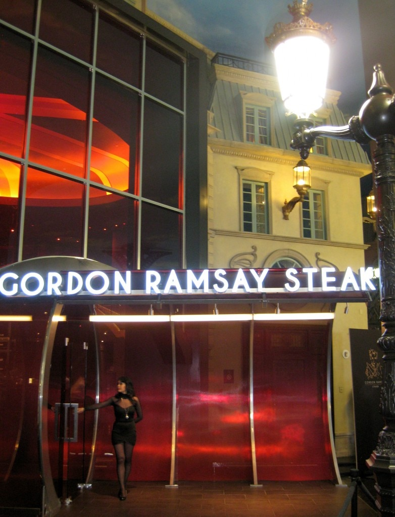 Gordon Ramsay Steak entrance