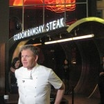 Gordon Ramsay in front of his eponymous steakhouse